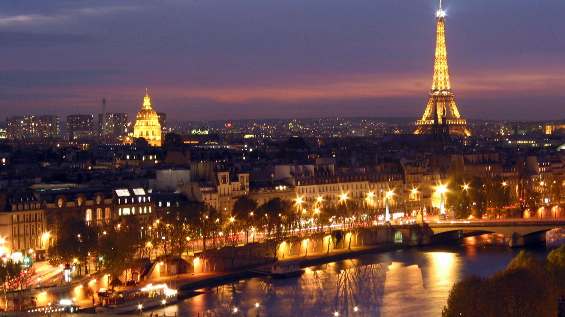 Обои ночной париж. Города foto 18